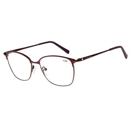 Armação Para Óculos de Grau Feminino Chilli Beans Inox Quadrado Vinho LV.MT.0352-0217