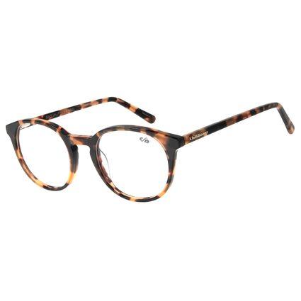 Armação Para Óculos de Grau Unissex Chilli Beans Redondo Tartaruga LV.AC.0587-0606