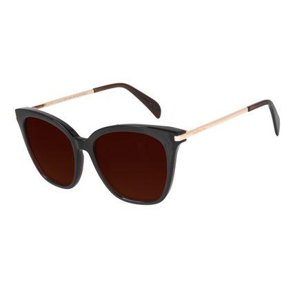 Óculos de Sol Feminino Chilli Beans Quadrado Polarizado Marrom OC.CL.2953-0202