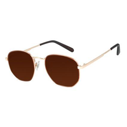 Óculos de Sol Unissex Barber Shop Redondo Dourado OC.MT.2908-0221