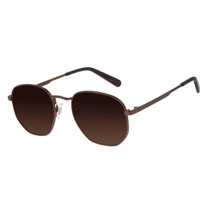 Óculos de Sol Unissex Barber Shop Redondo Marrom Escuro OC.MT.2908-5747