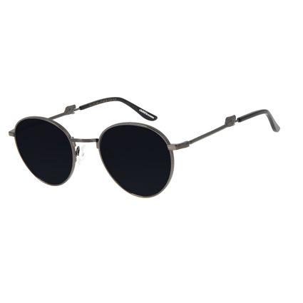 Óculos de Sol Unissex Alexandre Herchcovitch Serpente Redondo Ônix OC.MT.2958-0122