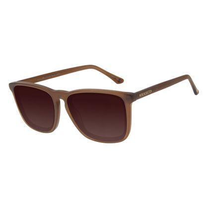 Óculos de Sol Masculino Alexandre Herchcovitch Flor-de-Lis Marrom OC.CL.3133-5702