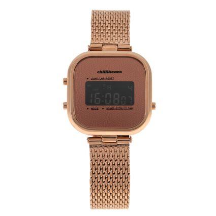 Relógio Digital Feminino Rose Gold RE.MT.0879-9595