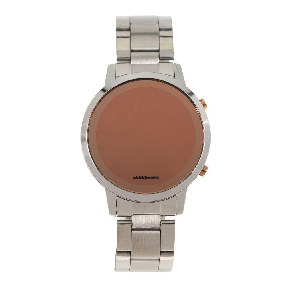 Relógio Digital Feminino Rose Gold Prata RE.MT.0880-0707
