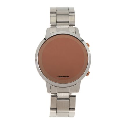 Relógio Digital Feminino Rose Gold Prata RE.MT.0880-0707
