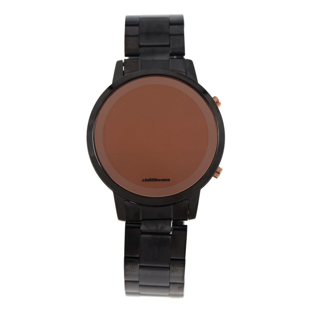 Relógio Digital Feminino Rosé Gold Preto RE.MT.0880-0101