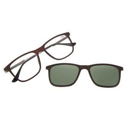 Armação Para Óculos De Grau Masculino Chilli Beans Multi Marrom Polarizado LV.MU.0449-1502