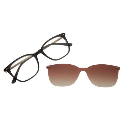 Armação Para Óculos De Grau Feminino Chilli Beans Multi Preto Polarizado LV.MU.0494-5701