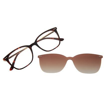 Armação Para Óculos De Grau Feminino Chilli Beans Multi Tartaruga Polarizado LV.MU.0494-5706