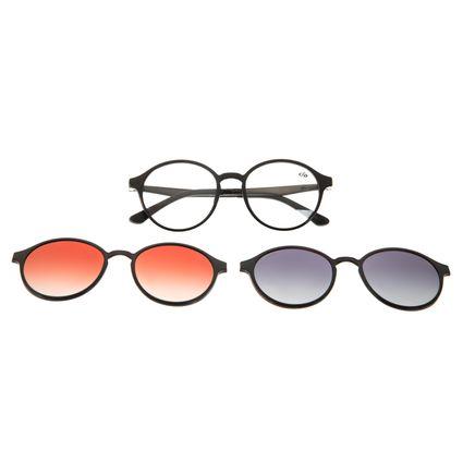 Armação Para Óculos de Grau Unissex Chilli Beans Multi Polarizado Preto LV.MU.0355-2001