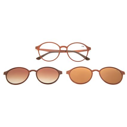 Armação Para Óculos de Grau Unissex Chilli Beans Multi Polarizado Bege LV.MU.0355-5723
