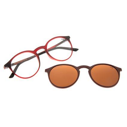 Armação Para Óculos De Grau Unissex Chilli Beans Multi Vinho Polarizado LV.MU.0455-0217
