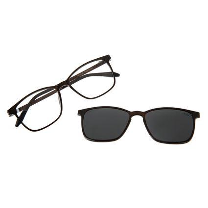 Armação Para Óculos De Grau Masculino Chilli Beans Essential Multi Preto Brilho Polarizado LV.MU.0407-0130