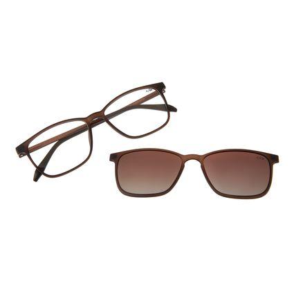 Armação Para Óculos De Grau Masculino Chilli Beans Essential Multi Marrom Polarizado LV.MU.0407-5702