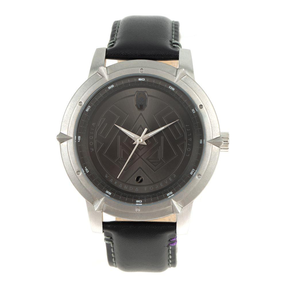 Relógio Analógico Masculino Marvel Pantera Negra Ônix RE.CR.0464-2201