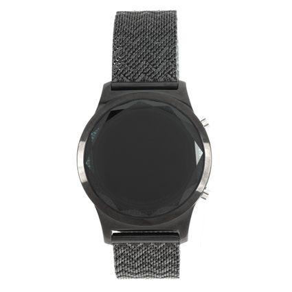 Relógio Digital Feminino Marvel Pantera Negra Preto RE.MT.1140-0101