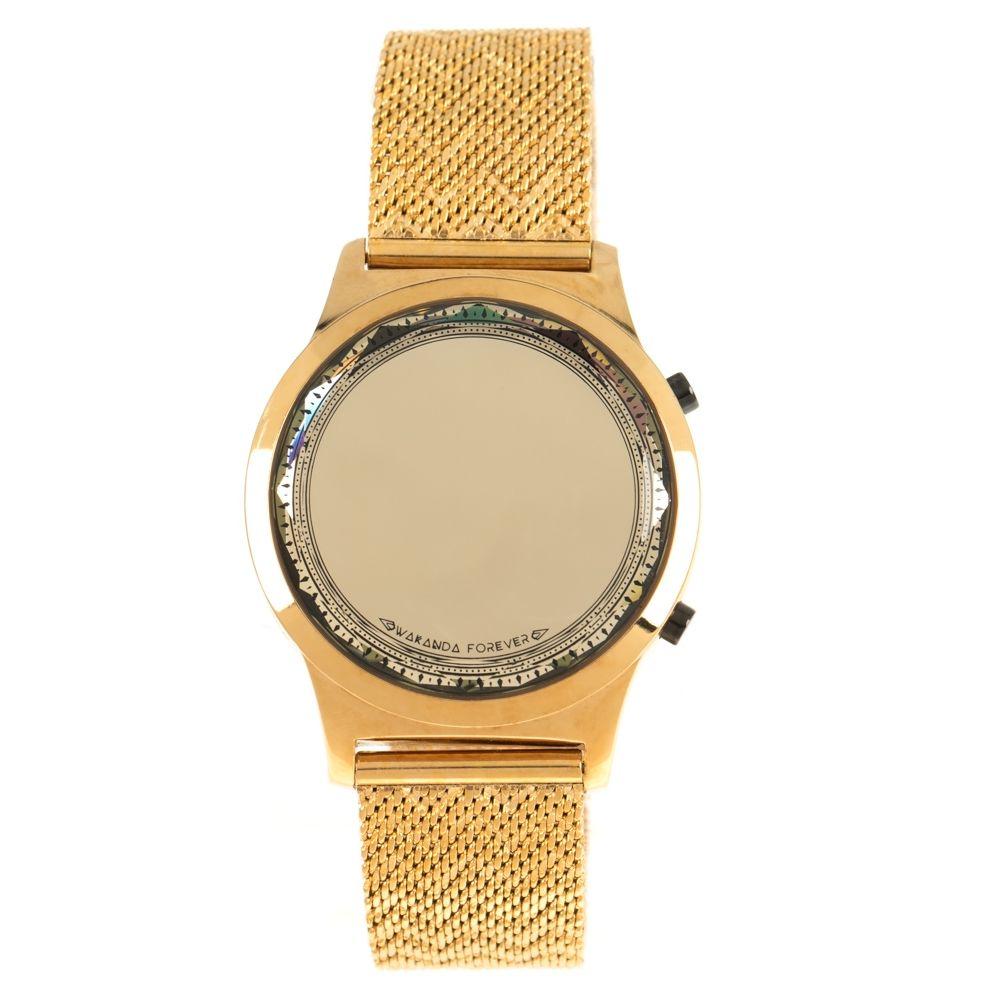 Relógio Digital Feminino Marvel Pantera Negra Dourado RE.MT.1140-2121