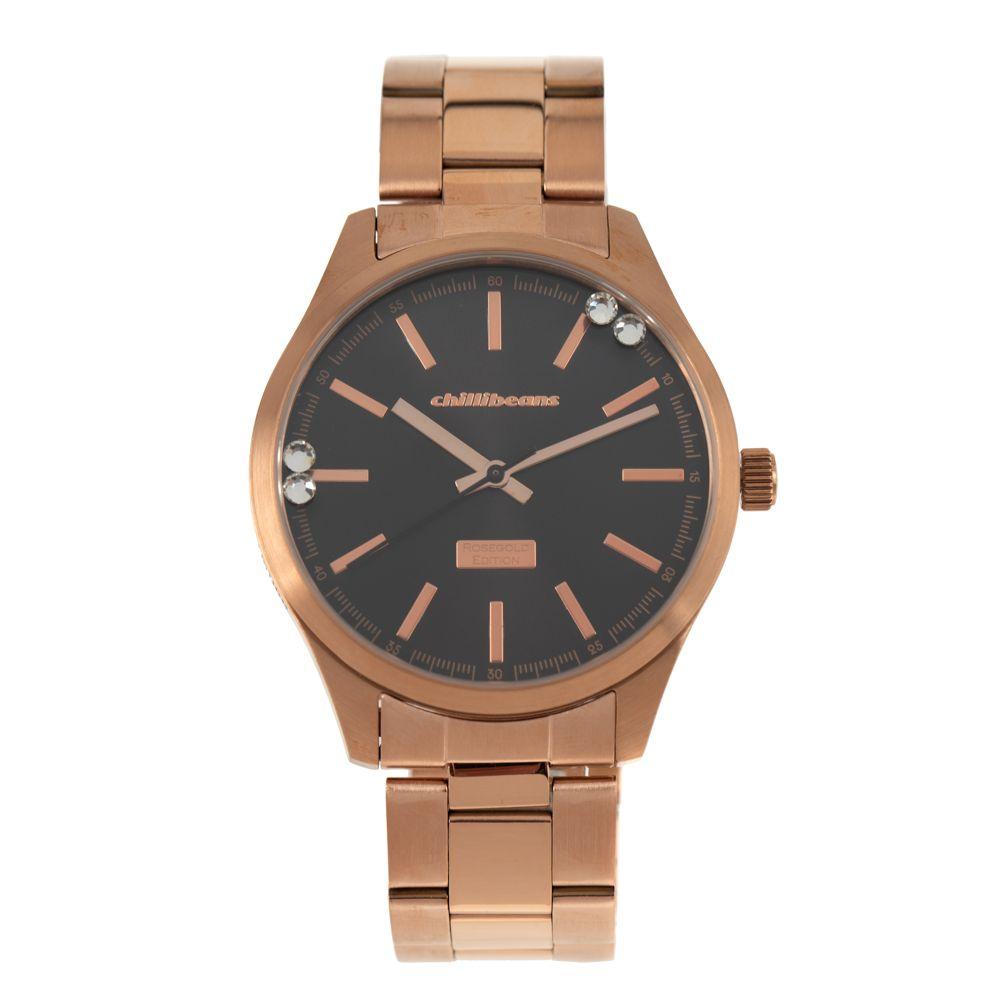 Relógio Analógico Feminino Rose Gold Marrom RE.MT.0881-0202