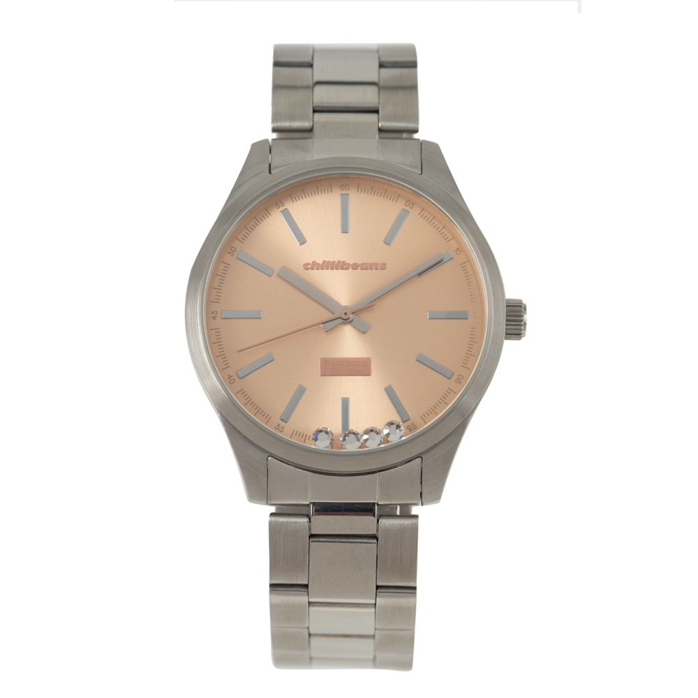 Relógio Analógico Feminino Rose Gold Prata RE.MT.0881-9507