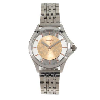 Relógio Analógico Feminino Rose Gold Prata RE.MT.0892-9507