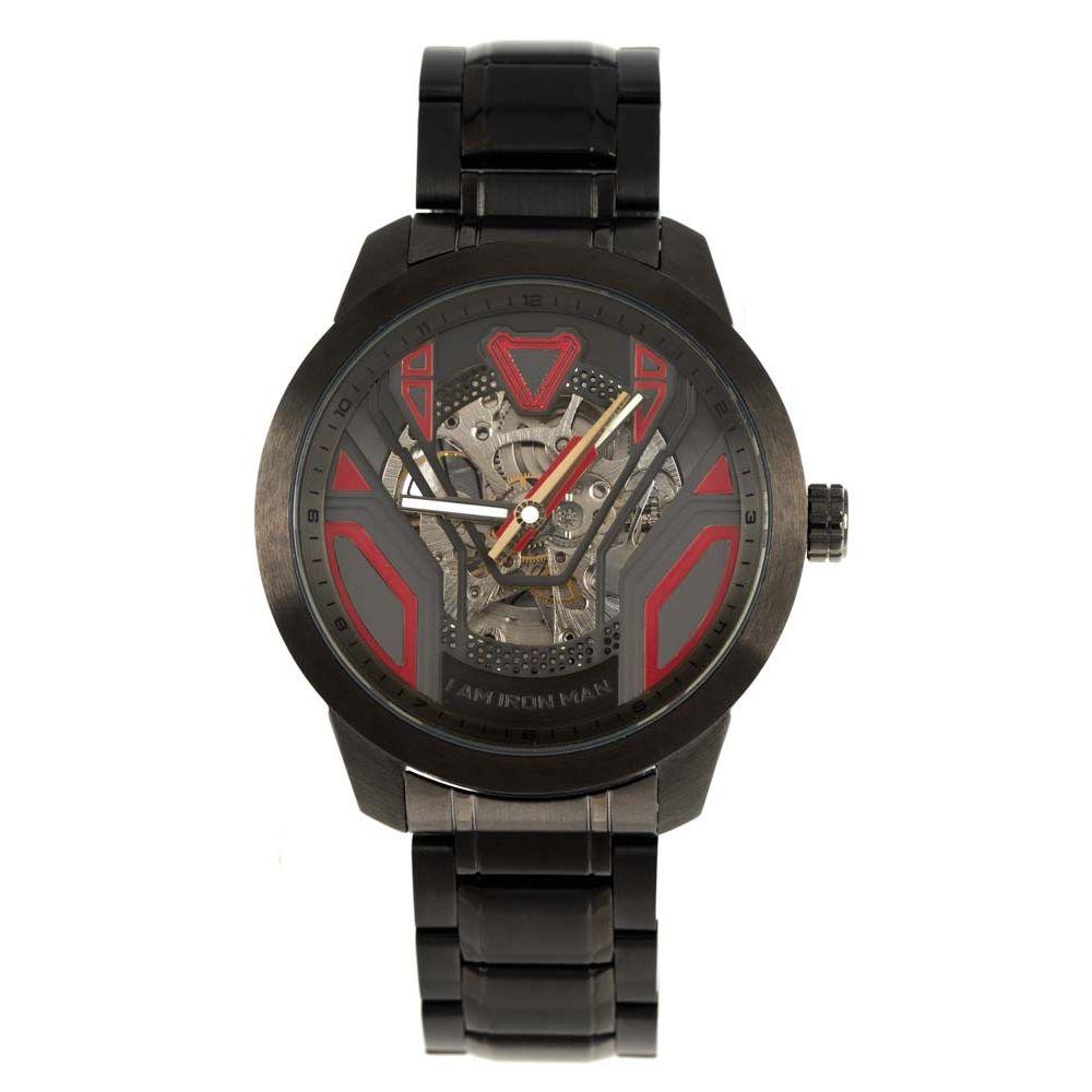 Relógio Automático Masculino Marvel Homem de Ferro Ônix RE.MT.1149-2122