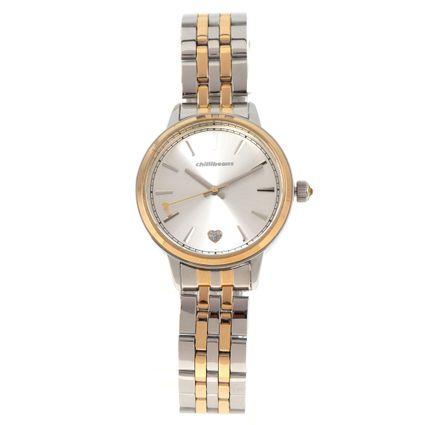 Relógio Analógico Feminino Double Plating Prata RE.MT.1076-0721