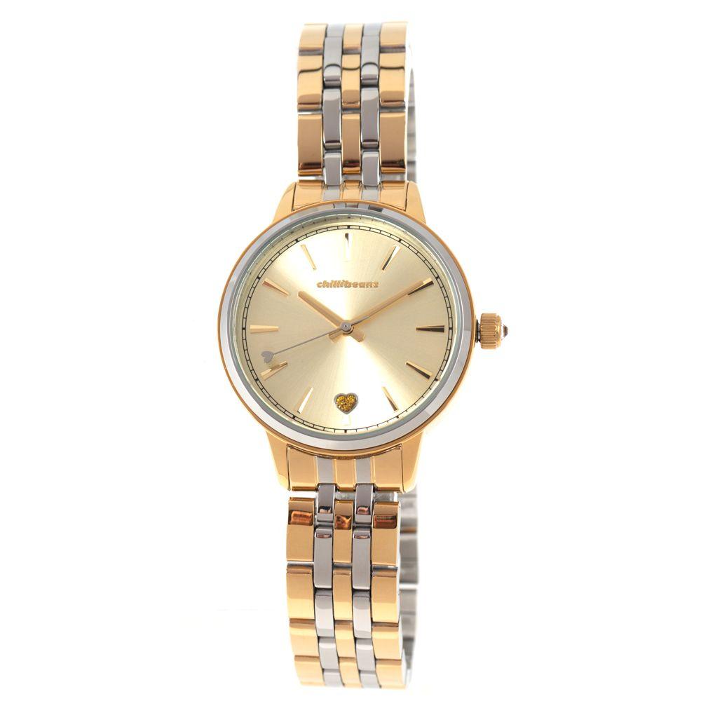 Relógio Analógico Feminino Double Plating Dourado RE.MT.1076-2121
