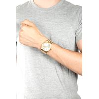 Relógio Analógico Masculino Alexandre Herchcovitch Caveira Metal DouradoRE.MT.0989-2121.4