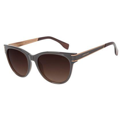 Óculos de Sol Feminino Chilli Beans Quadrado Polarizado Marrom OC.CL.2949-5702