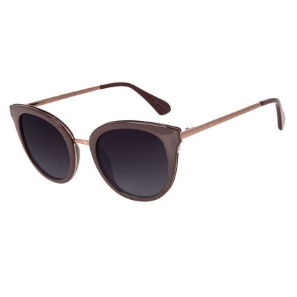 Óculos de Sol Feminino Chilli Beans Redondo Polarizado Vinho OC.CL.2950-0117