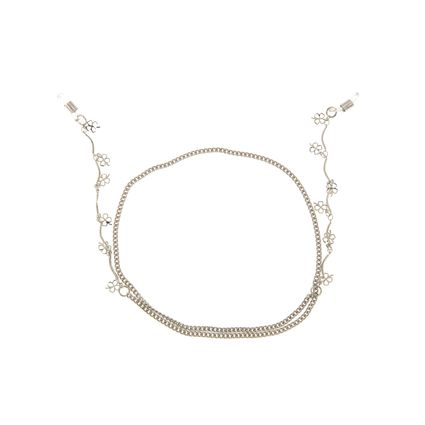 Cordinha para Óculos Chilli Beans Prata Mini Trevos da Sorte AC.LI.0389-0707