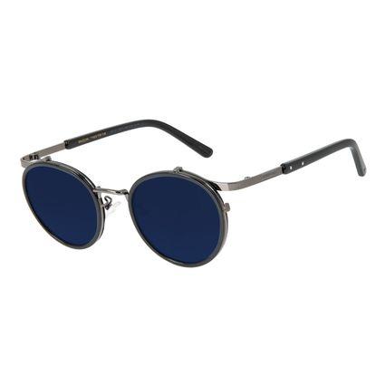 Óculos de Sol Unissex Redondo Barber Shop Azul OC.CL.3087-0801
