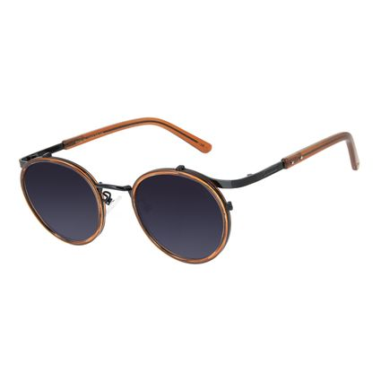 Óculos de Sol Unissex Redondo Barber Shop Marrom OC.CL.3087-2002