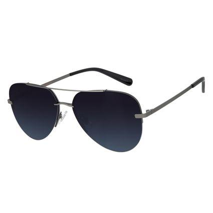 Óculos de Sol Unissex Aviador Barber Shop Ônix OC.MT.2909-8222