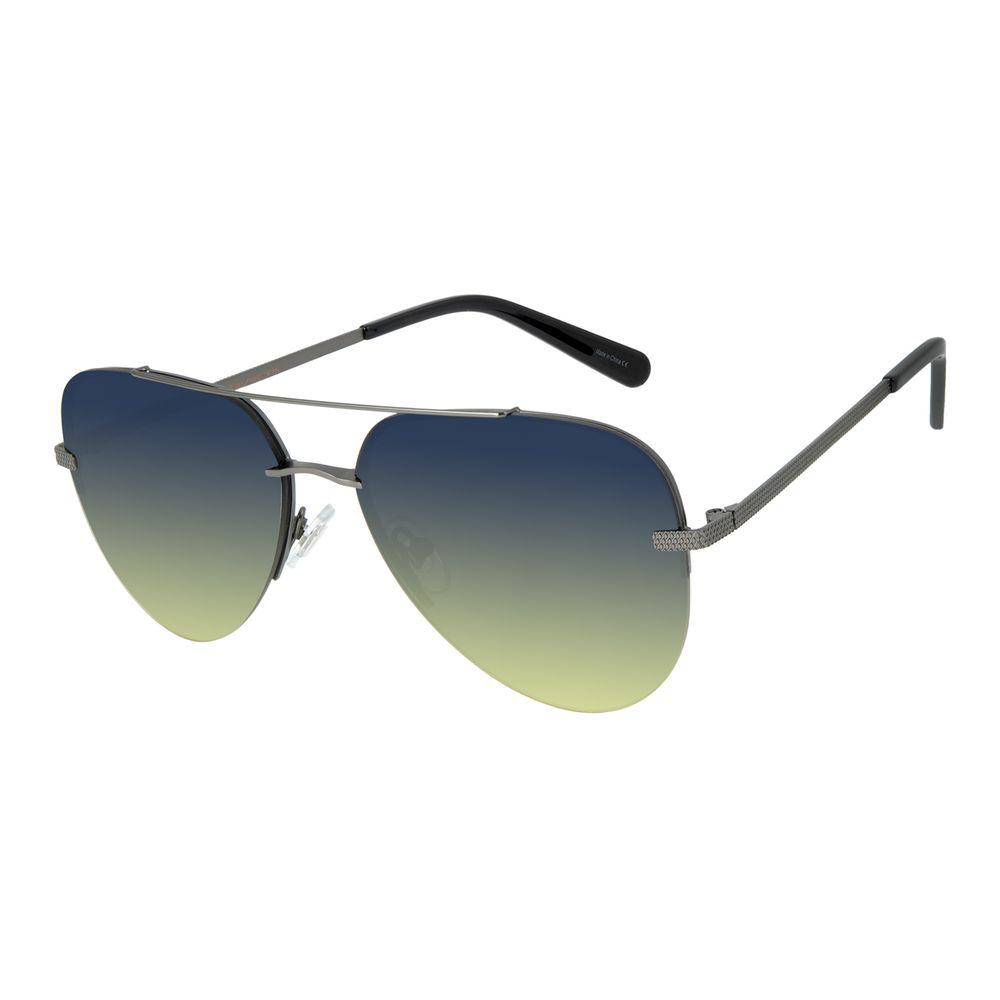Óculos de Sol Unissex Aviador Barber Shop Degradê Azul OC.MT.2909-8322
