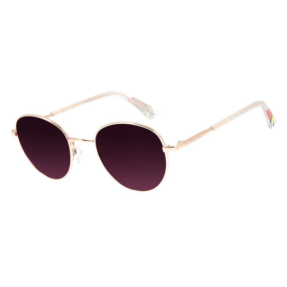 Óculos de Sol Unissex Mãe Natureza Redondo Rosé OC.MT.2866-2095