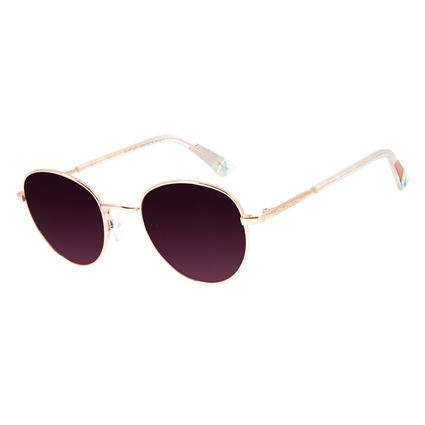 Óculos de Sol Unissex Mãe Natureza Redondo Rose OC.MT.2866-2095