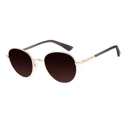 Óculos de Sol Unissex Mãe Natureza Redondo Degradê Marrom OC.MT.2866-5721