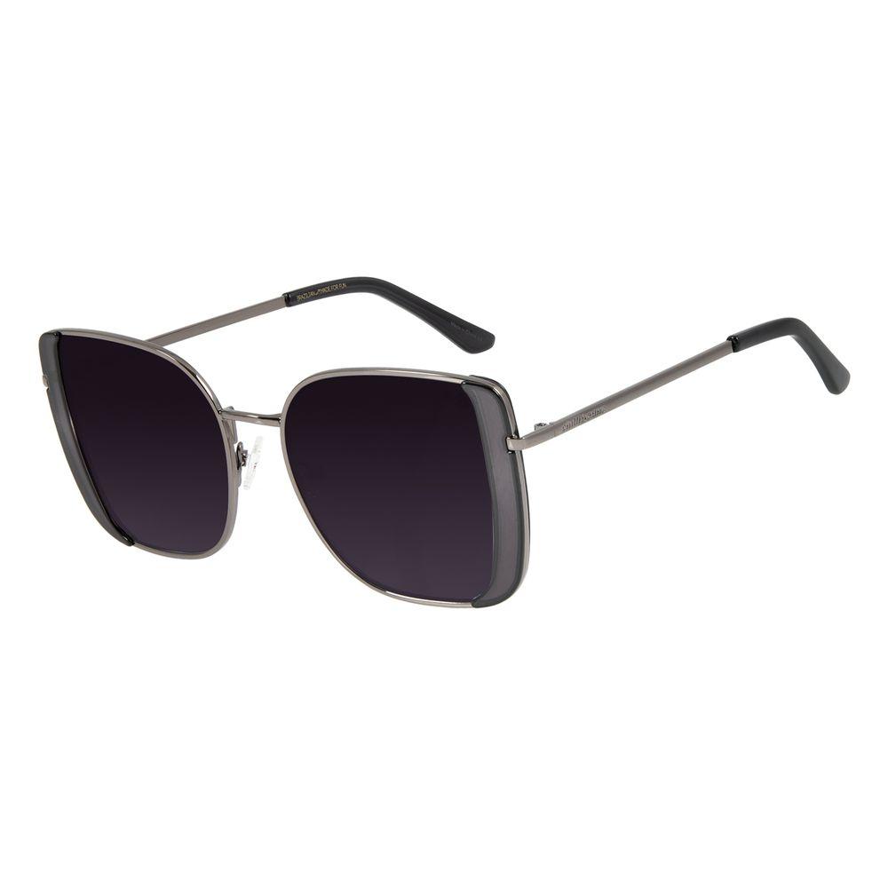 Óculos de Sol Feminino Mãe Natureza Quadrado Ônix OC.MT.2865-2022