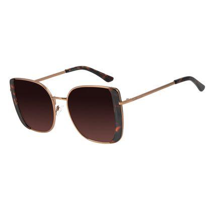 Óculos de Sol Feminino Mãe Natureza Quadrado Marrom Claro OC.MT.2865-5788