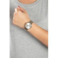 Relógio Analógico Feminino Double Plating Prata RE.MT.1076-0721.4
