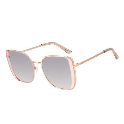 Óculos de Sol Feminino Mãe Natureza Quadrado Rosé OC.MT.2865-5795