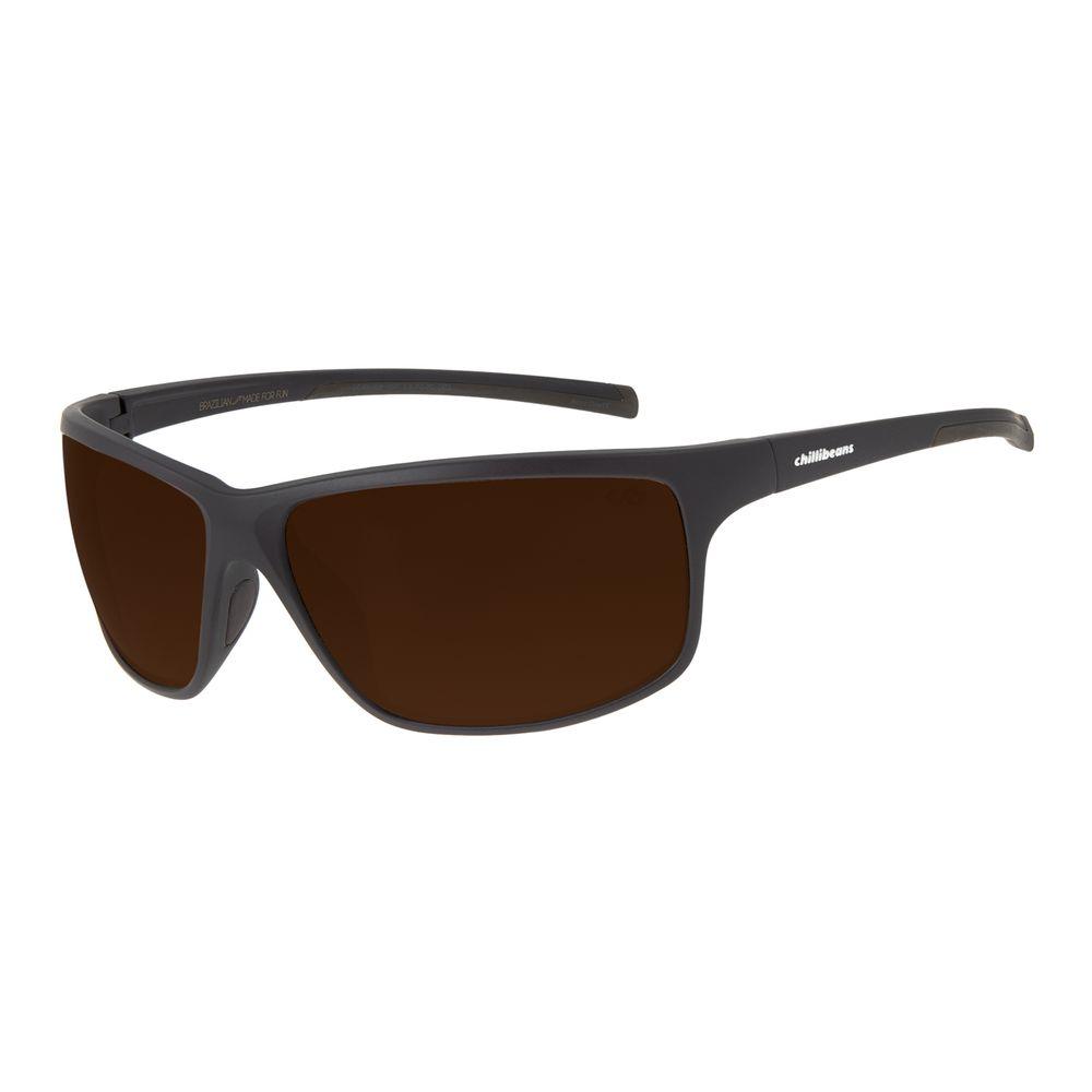 Óculos de Sol Masculino Chilli Beans Performance Marrom Escuro OC.ES.1226-0247