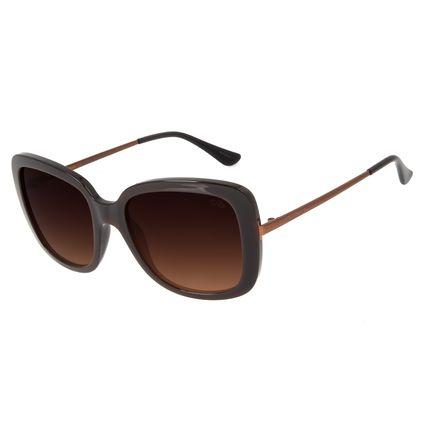 Óculos de Sol Feminino Chilli Beans Quadrado Classic Marrom Escuro OC.CL.2936-5747
