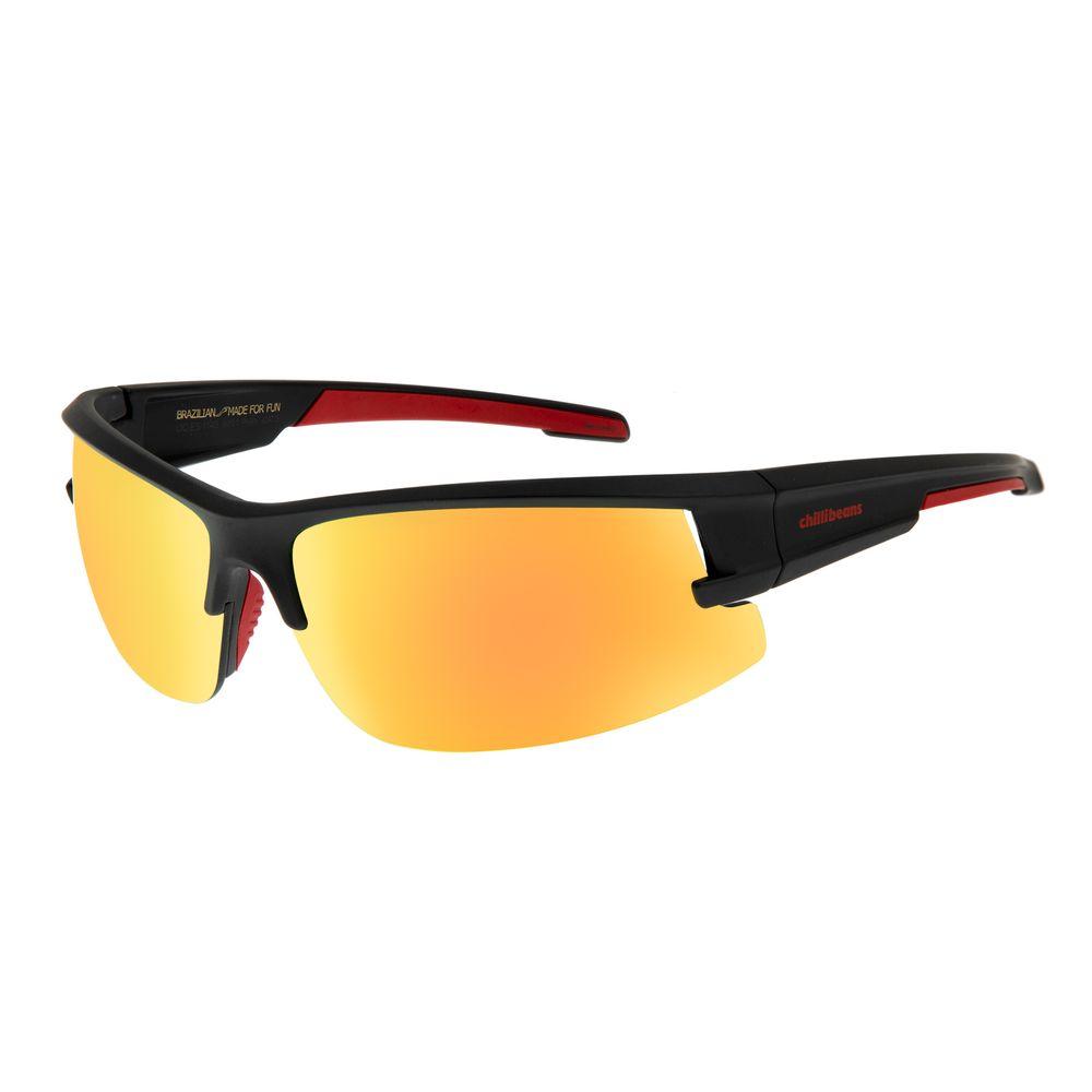 Óculos de Sol Masculino Chilli Beans Flutuante Vermelho Espelhado OC.ES.1145-9201
