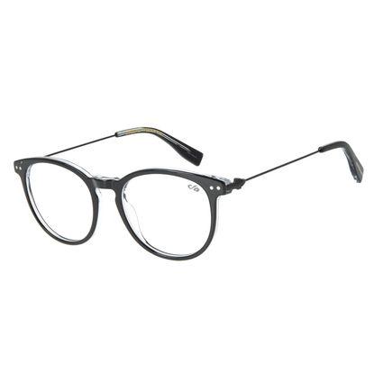 Armação Para Óculos de Grau Unissex Chilli Beans Redondo Preto LV.AC.0586-0101