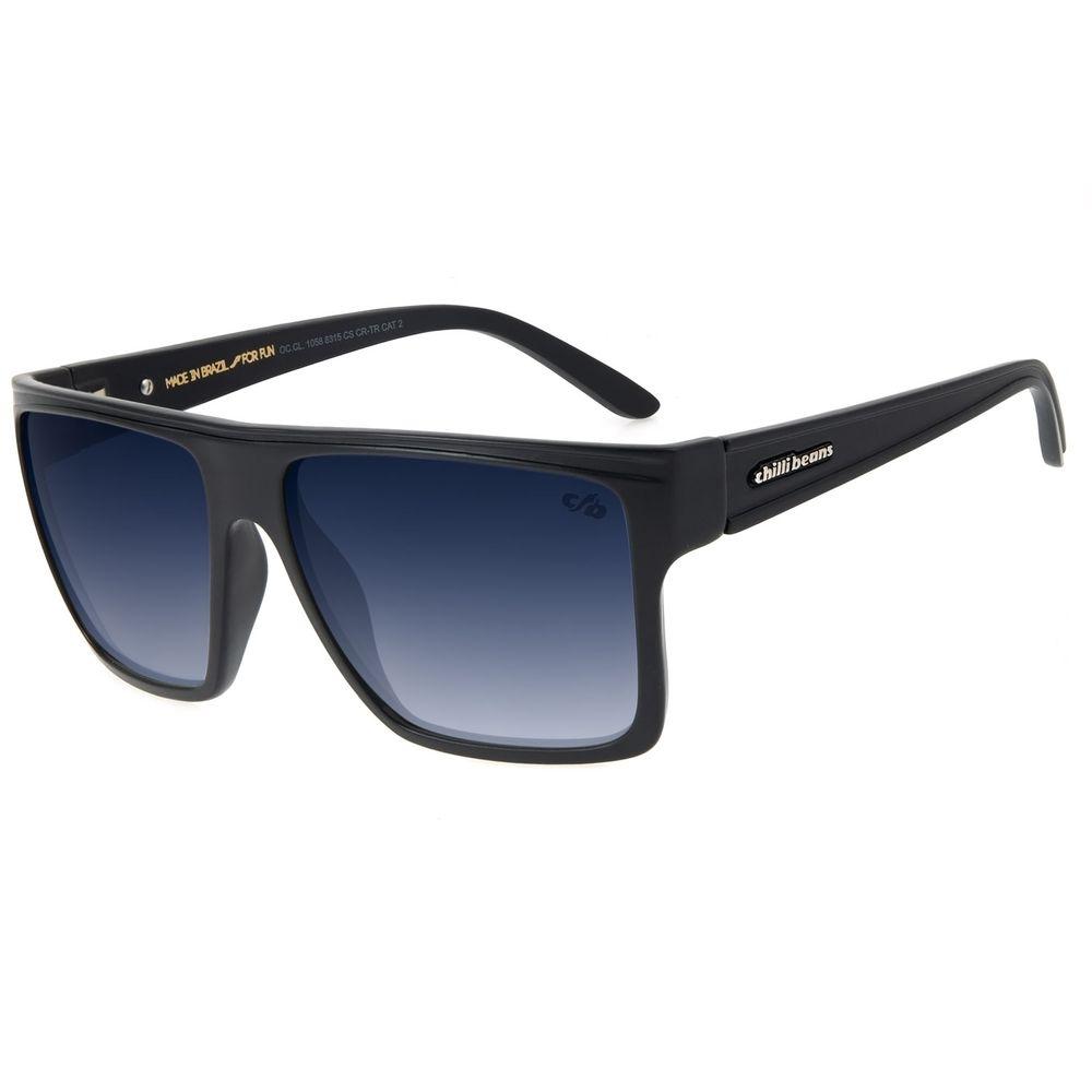 Óculos de Sol Unissex Chilli Beans Essential Quadrado Degradê Azul OC.CL.1058-8315