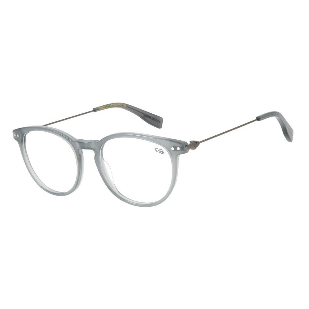 Armação Para Óculos de Grau Unissex Chilli Beans Redondo Cinza LV.AC.0586-0422