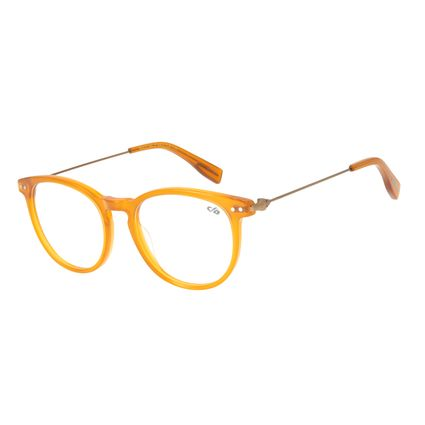 Armação Para Óculos de Grau Unissex Chilli Beans Redondo Amarelo LV.AC.0586-0934